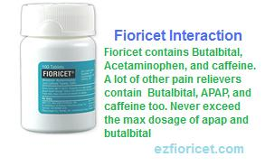Fioricet Interaction with Other Medicines or foods